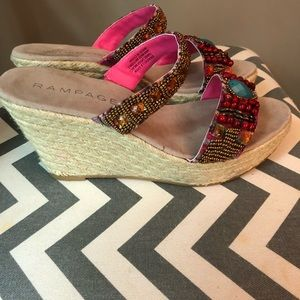 Rampage Shoes - Rampage Beaded Wedges